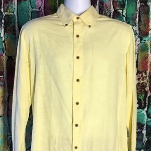 Tailor Vintage large yellow button down shirt new